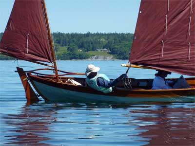 """Nina S. Benjamin"" under sail"