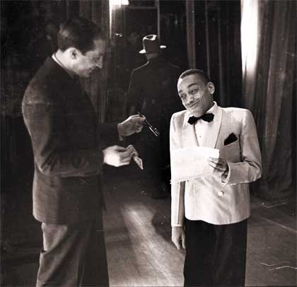 Moe Gale, owner of The Savoy Ballroom, with Chick Webb