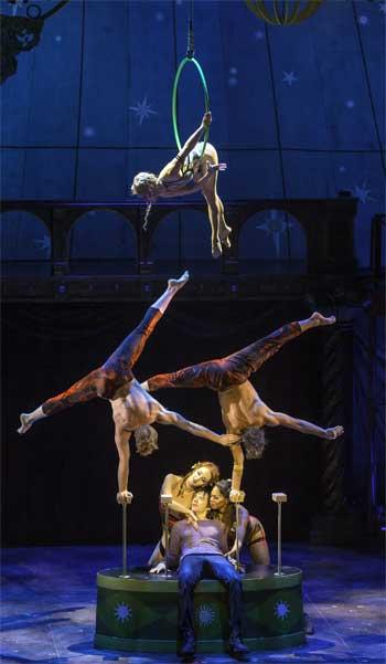 Acrobats from 'Les 7 Doigts de la Main' in 'Pippin'