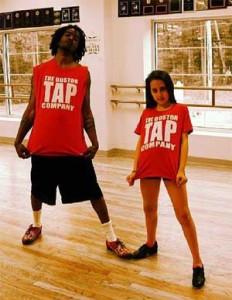 Grace Cannady with her choreographer Sean Shizz Fielder