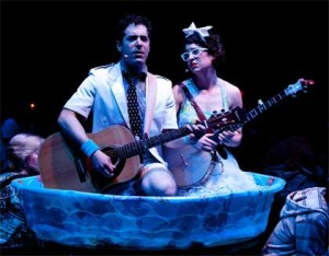 Zeke Sulkes as Frederic,  Christine Stulik as Mabel in 'The Pirates of Penzance'