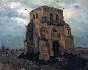 Vincent van Gogh, 'Old Cemetery Tower at Nuenen (1885)'