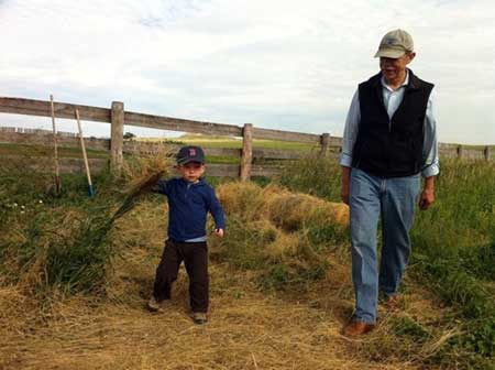 Gary Whited with his grandson