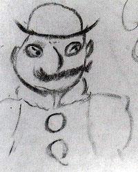 Leopold Bloom, drawn by James Joyce