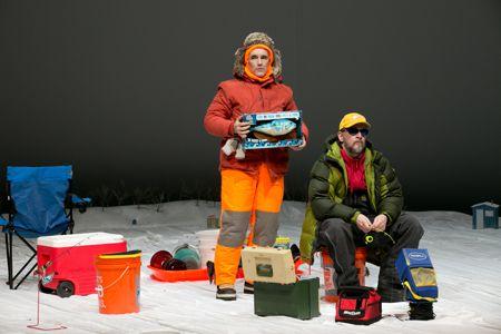 Mark Rylance as Ron, Jim Lichtscheidl as Erik in 'Nice Fish'