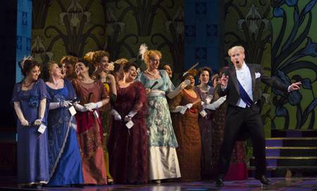 Roger Honeywell as Count Danilo with ensemble in 'The Merry Widow'