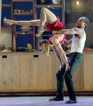Anna Kichtchenko and Melvin Diggs in 'Cuisine & Confessions'