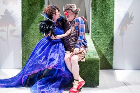 Paula Plum as Titania, Steven Barkhimer as Bottom in 'A Midsummer Night's Dream'