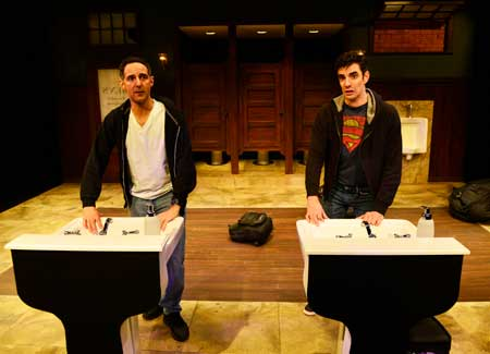 ael Nacer as Tracey, Paul Melendy as Russell in 'Bank Job'