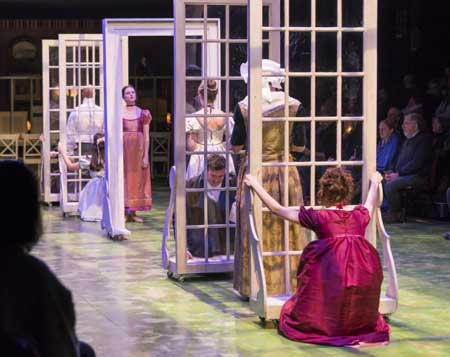 Jessica Frey as Marianne Dashwood and the cast of 'Sense and Sensibility'