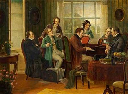 'Franz Schubert at the piano', Rudolf Klingsbogl (1881–1943)