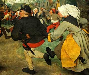 Pieter Breughel the Elder, 'Peasant Dance' (1568, detail)