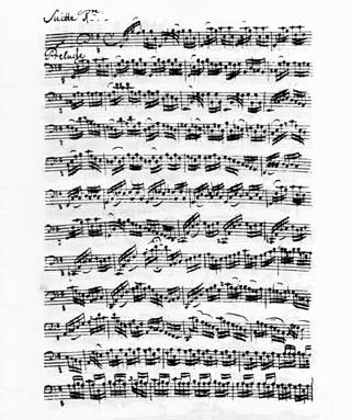 J.S. Bach, Prelude, Suite 1 in G, Transcribed by Anna Magdalena Bach