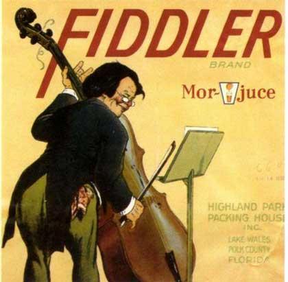 Fiddler Fruit Label