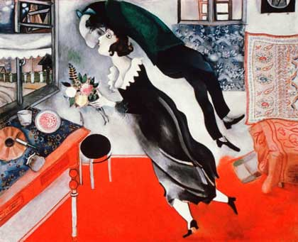 'The Birthday' (1887) by Marc Chagall