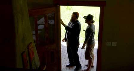 Affixing a Mezuzah to a doorpost in Montana